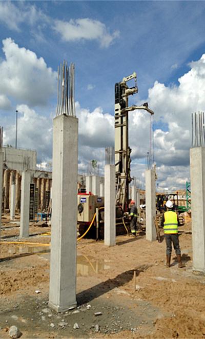 Construcción del edificio