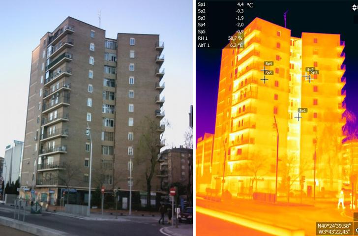 El estado actual del edificio Avda Manzanares 2 en Madrid Río.