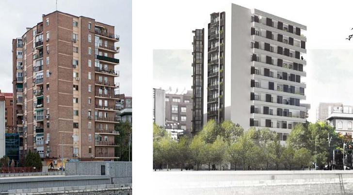 La propuesta ganadora: antes y después.