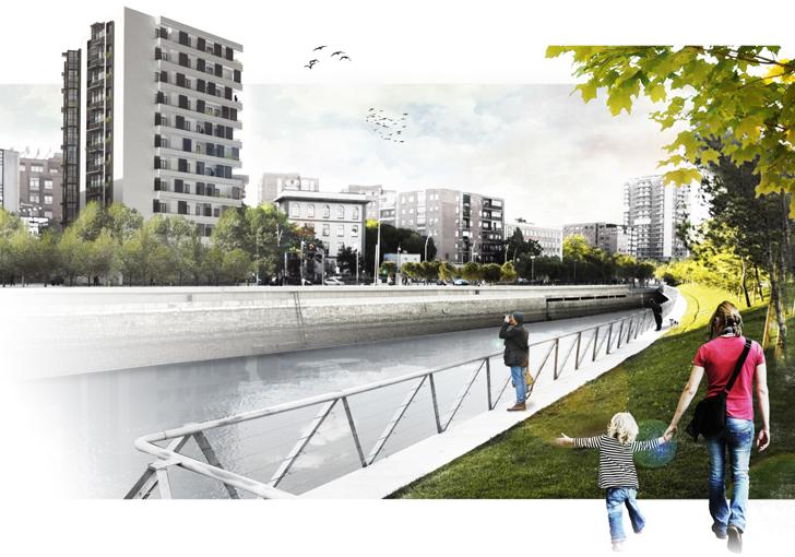 Vista general de Madrid Río con la nueva propuesta