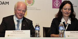 Kurt Eliasson y Sorcha Edwads, CECODHAS, en el II Congreso EECN