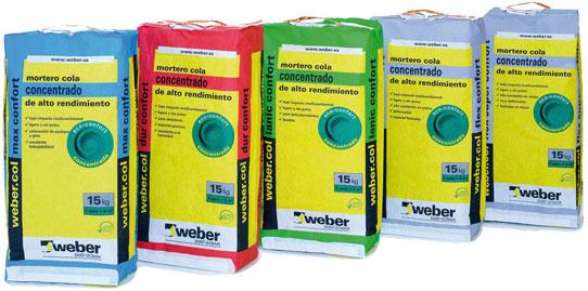 Nueva gama de adhesivos cementosos weber.col eco-confort • CONSTRUIBLE