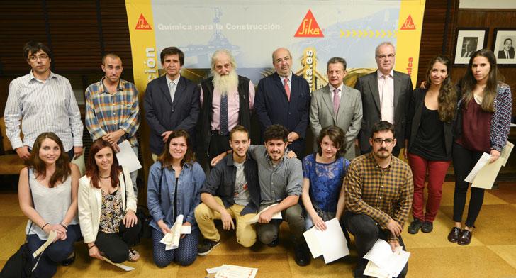 Entrega Premios del Prontuario Sika para estudiantes de Arquitectura