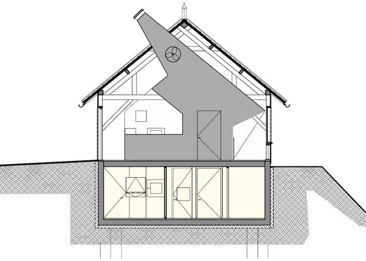 Plano del edificio, sala de armerias