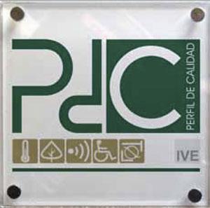 Placa del distintivo Perfil de Calidad