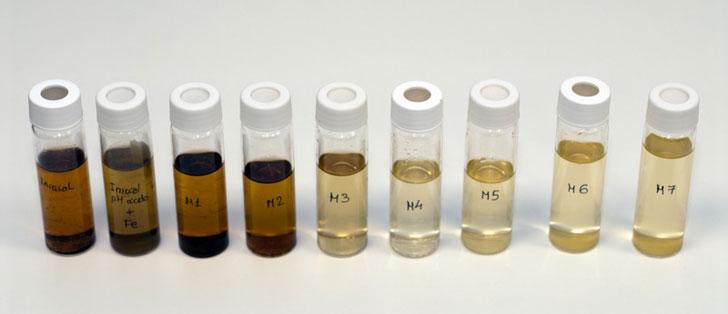 Evolución del agua residual durante el tratamiento de foto-fenton solar