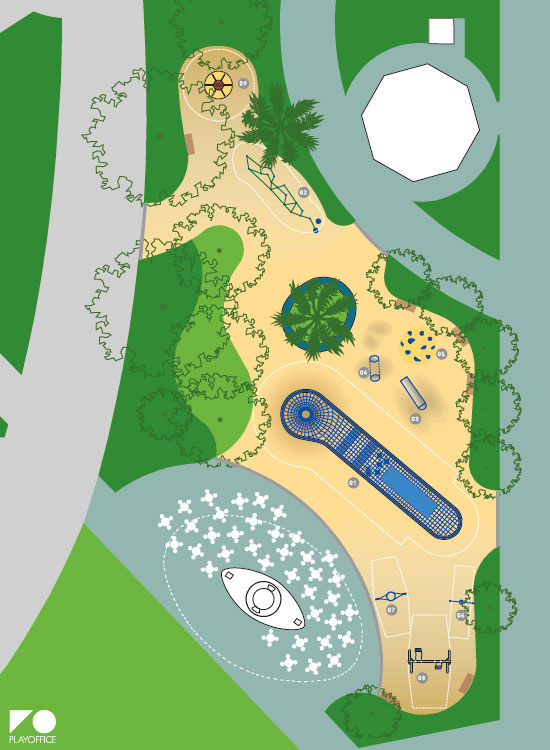 Plano del nuevo Jardín de Pereda