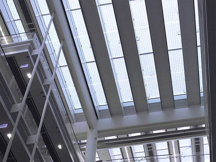 Lucernario fotovoltaico, Sede Novartis en New Jersey