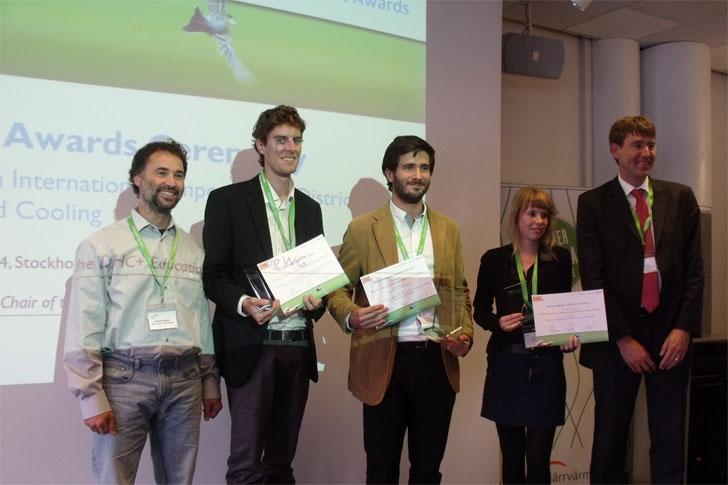 Premiados II Edición DHC+ Student Awards Nicolas Février (DHC+ Technology Platform); Loïc Quiquerez (University of Geneva); Mateo Guadalfajara (University of Zaragoza); Kathelijne Bouw (University of Utrecht); Stefan Holler (Hannover Hochschule)