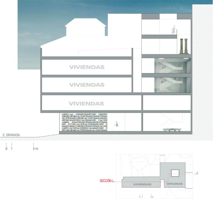 Oficinas Municipales de Rehabilitación del Centro Histórico de Málaga, alzado