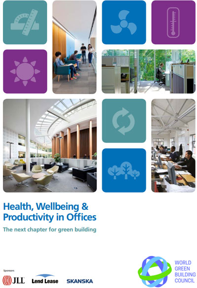 Portada del informe Health, wellbeing and productivity in offices: The next chapter for green building