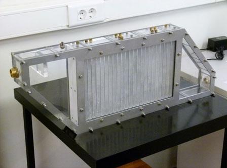 Vista del prototipo de almacenamiento de energía térmica