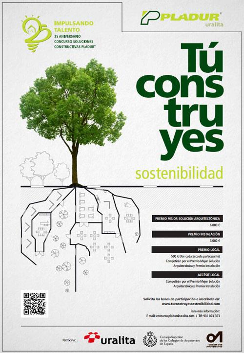 Cartel XXV Aniversario del Concurso de Soluciones Constructivas Pladur®
