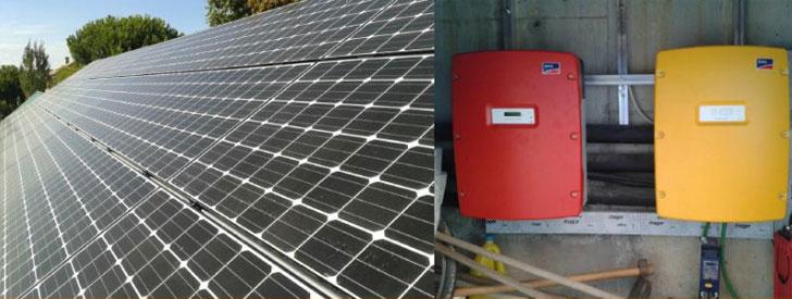 Autoconsumo fotovoltaico desconectado de la red en una vivienda en Madrid