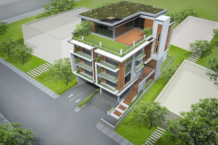 Terraza Verde Edificio
