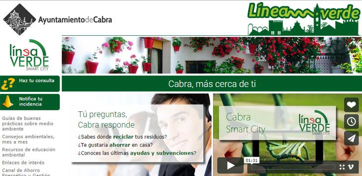 Linea verde del Ayuntamiento de Cabra, Ganador Premios Conama 2014