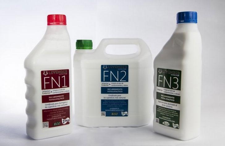 Producto descontaminante fotocatalítico, FN Nano