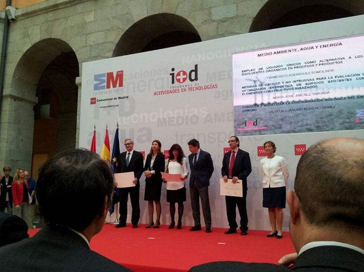 """Entrega de ayudas para la realización de """"Programas de Actividades de I+D en Tecnologías 2013"""" de la Comunidad de Madrid"""