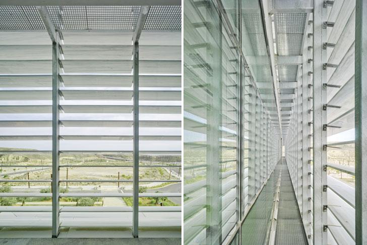 Centro de Transferencia Tecnológica de Almería, Edificio Pitágoras y Tecnova. Lamas de mármol