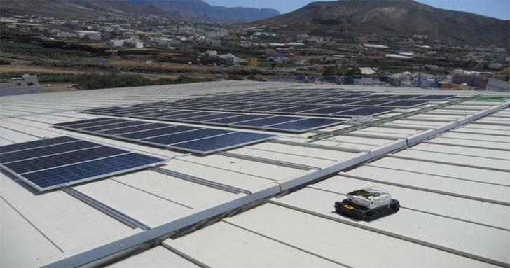 Instalación de autoconsumo fotovoltaico en el Museo y Parque Arqueológico de la Cueva Pintada de Gáldar, en Gran Canaria.