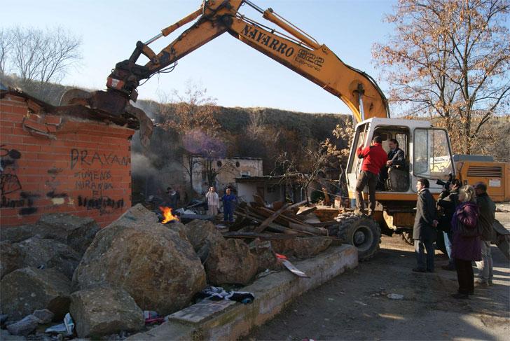 Demolición de infraviviendas en Segovia