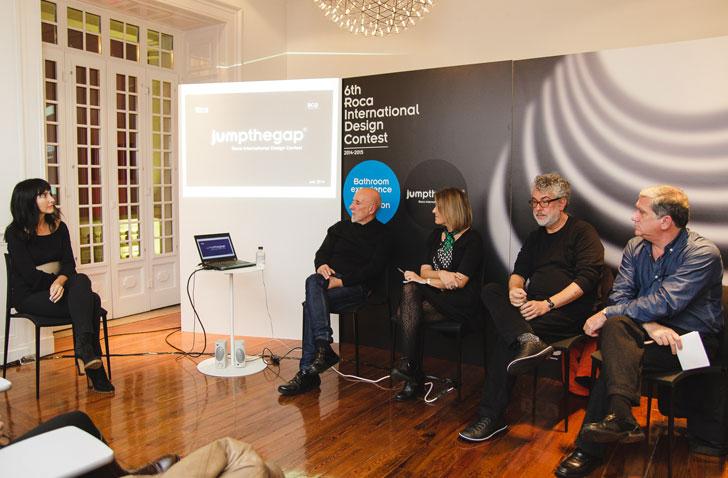 """Guta Moura trasladó sus consejos a los asistentes que acudieron a la charla """"Home of the future"""" en el Roca Lisboa Gallery"""