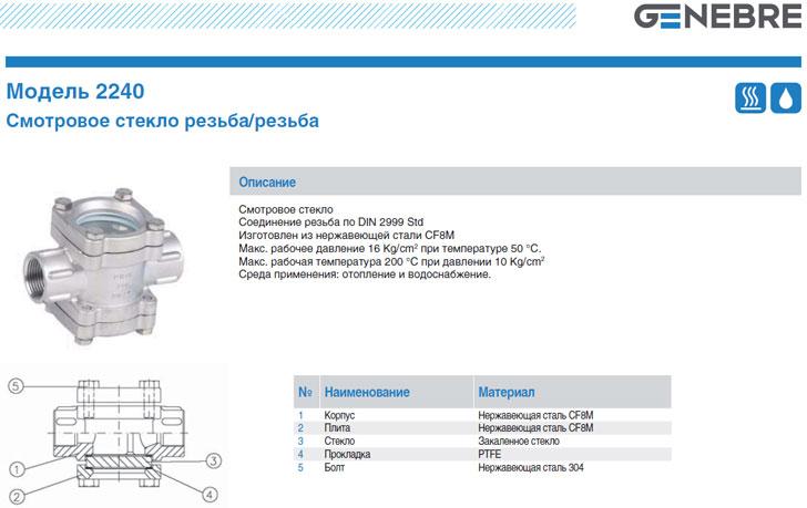 Catálogo de Genebre Mercado ruso