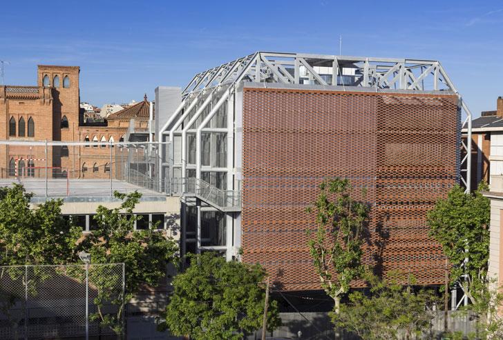 Flexbrick en la ampliación del Colegio de las Teresianas de Gaudí ...