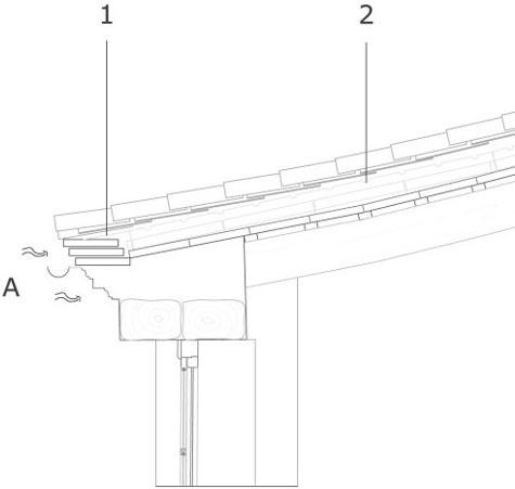 Sistema de ventilación natural para cubiertas inclinadas, Universitat Jaume I