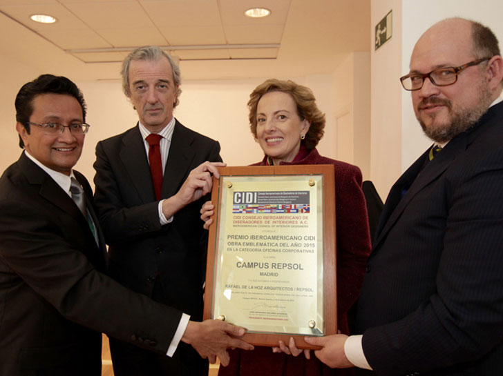 La sede de Repsol en Madrid recibe el Premio Obra Emblemática del CIDI