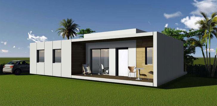 Casa fabricada con material Compoplak