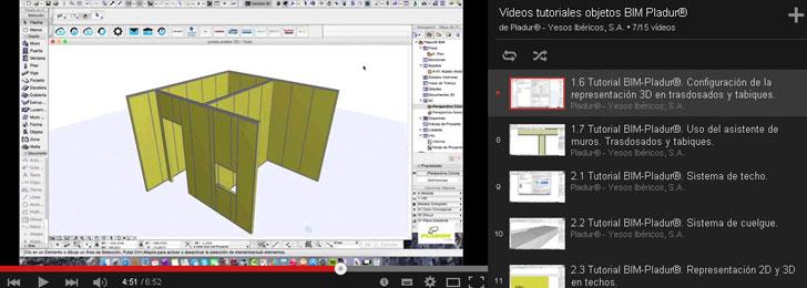 Vídeos de Pladur sobre el uso de tecnologías BIM