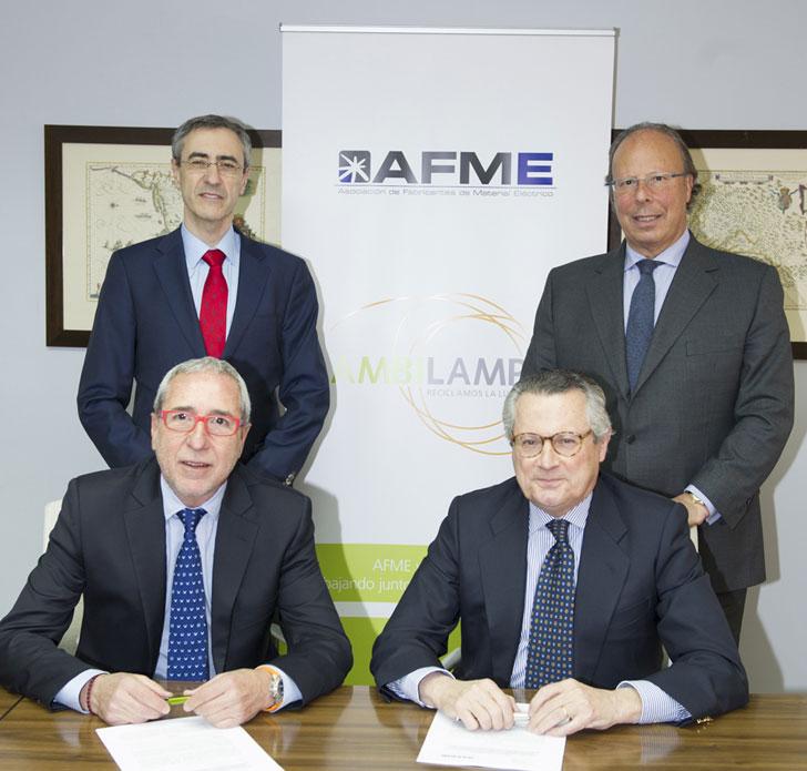 Acuerdo Ambilamp y Afme