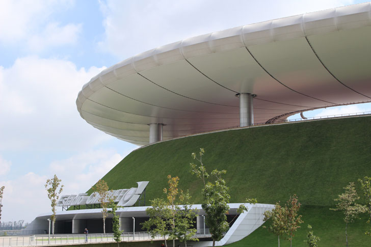 Cubierta ecológica del Estadio Omnilife. México.