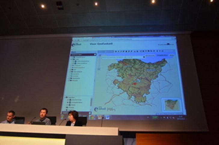 Presentación del portal de cartografía del Gobierno Vasco