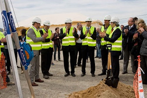 Primera piedra del nuevo centro logístico de Decathlon