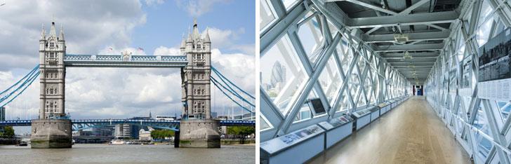 Suelo de madera de Tower Bridge London