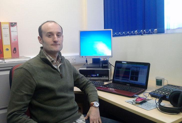 El investigador Antonio José Torija, de la Universidad de Málaga.