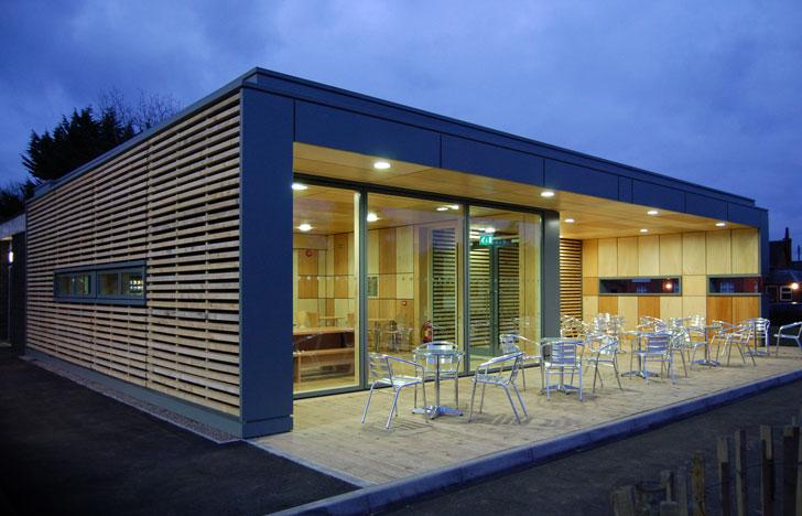Inmueble construido con materiales sostenibles.