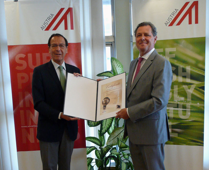 Entrega del Premio Energy Globe al Alcalde de Murcia.