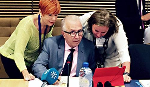 Sánchez  Maldonado en la en la presentación de la Plataforma de Especialización Inteligente de Energía de la Comisión Europea.