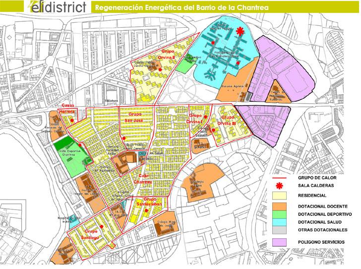 Mapa de actuación de Efidistrist.
