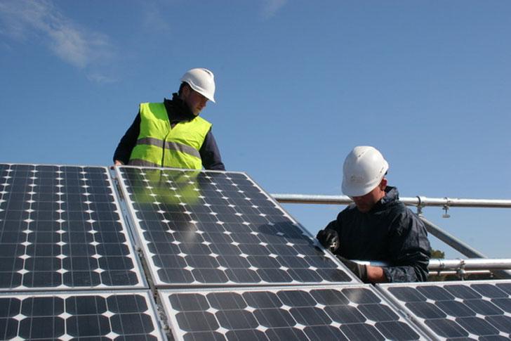 Instalación de energías renovables.