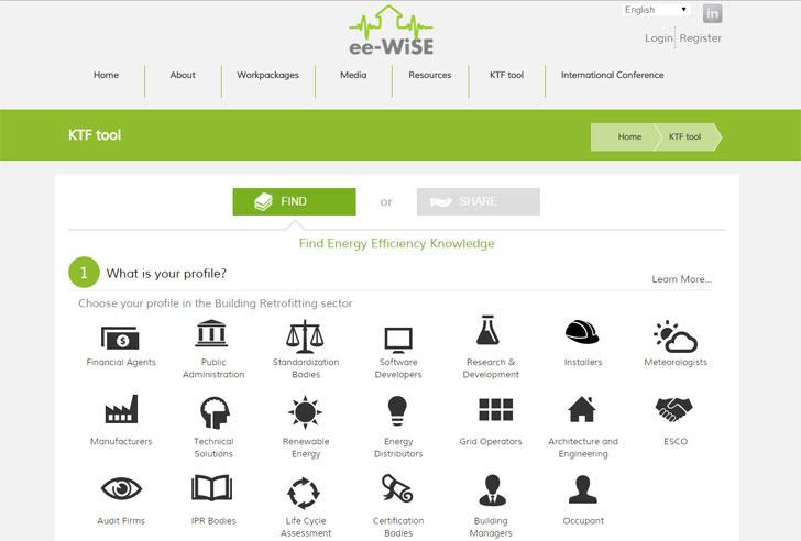 Panel principal de la herramienta ee-Wise.