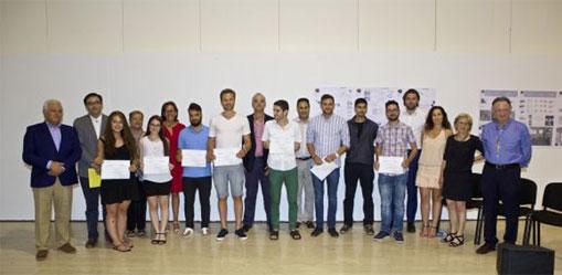 Participantes en los Premios de Edificación Sostenible de la UA.