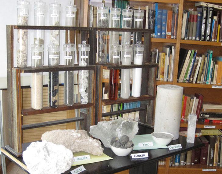 Materiales que intervienen en la producción del cemento.