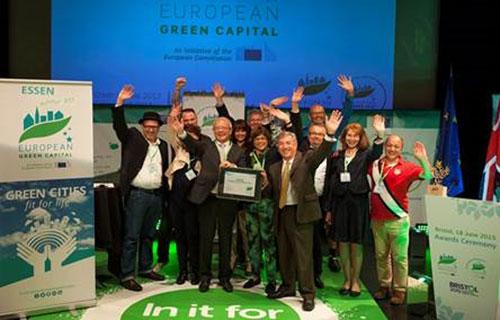 Recogida del Premio de Ciudad Verde Europea 2017.