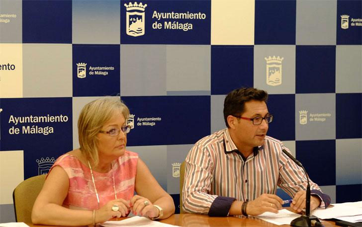 Rueda de prensa de aprobación del PERI en Málaga.