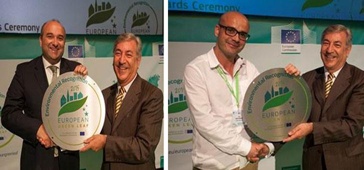 Entrega de los galardones a los alcaldes de las ciudades ganadoras.
