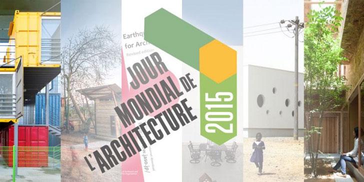 Cartel del Día Mundial de la Arquitectura.
